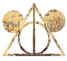 Mickey's Deathly Hallows Photographic Print