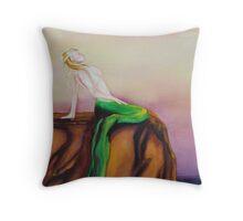 Mermaid's Moods: Sunset Throw Pillow