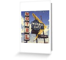 Motel Marble Gate Greeting Card