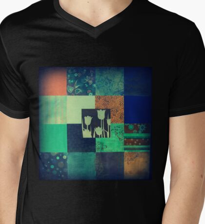 Paper Quilt 1.0 Mens V-Neck T-Shirt