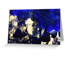 face in blue landscape Greeting Card