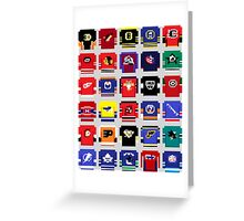 8-Bit Hockey Jerseys 2 Greeting Card