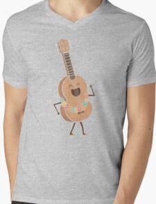 Always Happy Mens V-Neck T-Shirt