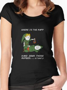 Where is the Map Tingle ? Women's Fitted Scoop T-Shirt