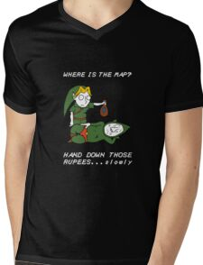 Where is the Map Tingle ? Mens V-Neck T-Shirt