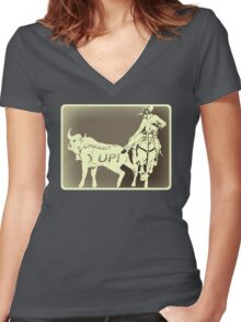 Charro Up Rusty Women's Fitted V-Neck T-Shirt