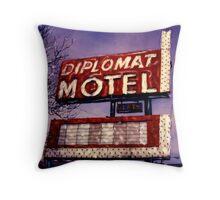 Diplomat Motel Throw Pillow