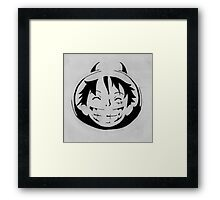 Luffy smiling stencil Framed Print