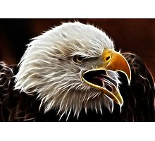 Electric Eagle Photographic Print