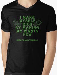 Henry David Thoreau Quote Mens V-Neck T-Shirt