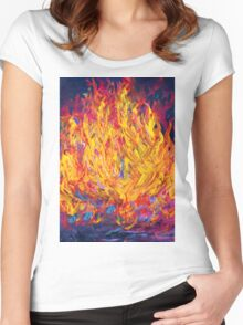 Fire and Passion - Here's to New Beginnings Women's Fitted Scoop T-Shirt