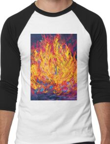 Fire and Passion - Here's to New Beginnings Men's Baseball ¾ T-Shirt