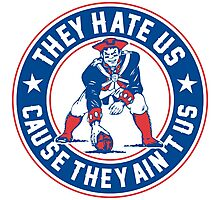 They Hate Us Cause They Ain't Us – New England Patriots Photographic Print