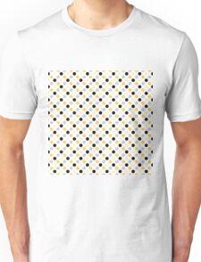 Yellow Black Dots Unisex T-Shirt