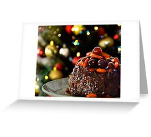 Christmas Pudding & Tree Greeting Card