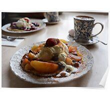 Apple Pancake with Cream Poster