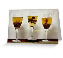 Chinese Tea, Three Glasses Please Greeting Card