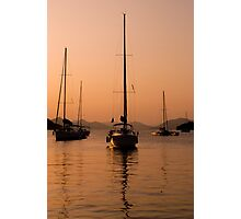 Yachting at sunset Photographic Print