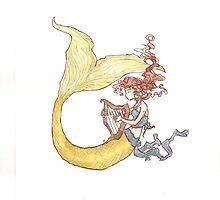 Yellowtail Mermaid by outlawedwings
