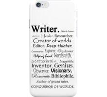 Writer Description iPhone Case/Skin