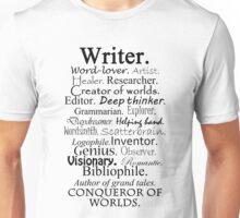 Writer Description Unisex T-Shirt