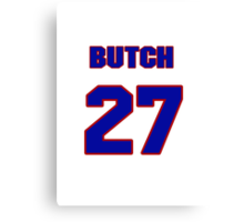 National baseball player Butch Henry jersey 27 Canvas Print