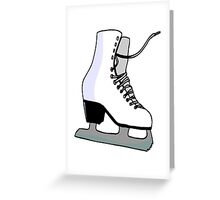 Ice Skate Greeting Card