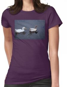 Two Ducks in a Pond Womens Fitted T-Shirt