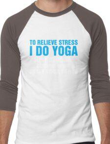 To Relieve Stress I Do Yoga Men's Baseball ¾ T-Shirt