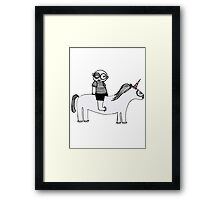 Unicorn. Framed Print