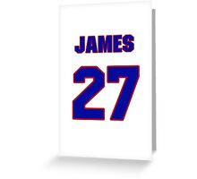 National baseball player James Loney jersey 27 Greeting Card