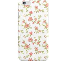Chic peach floral iPhone Case/Skin