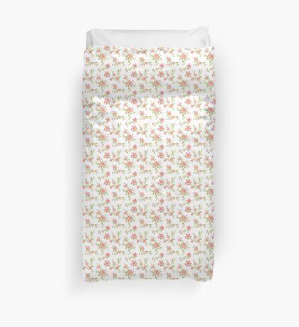 Chic peach floral Duvet Cover
