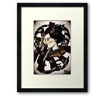 Japanese geisha  Framed Print