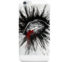 Gothic lips first kiss iPhone Case/Skin