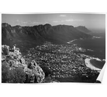 Camps Bay View Cape Town Poster