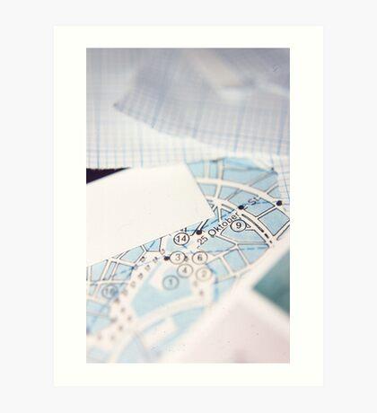 Graph Art Print