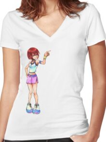 Kairi Re-Finish Women's Fitted V-Neck T-Shirt
