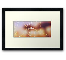 Spiders Pearls Framed Print