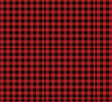 Red and Black Flannel Plaid Desigm by SometimesSilent