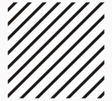 Beautiful Cushions/Stripe/ White Black One Piece - Short Sleeve