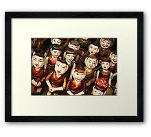 Vietnamese Water Puppet Dolls Framed Print