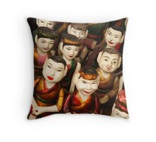 Vietnamese Water Puppet Dolls Throw Pillow