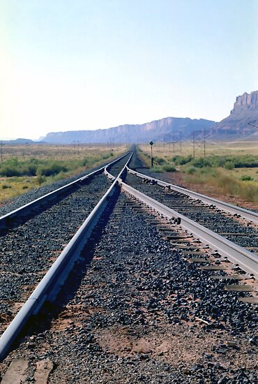 Railroad Tracks into Horizon by SteveOhlsen