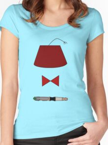 11th Doctor Minimalist Piece Women's Fitted Scoop T-Shirt