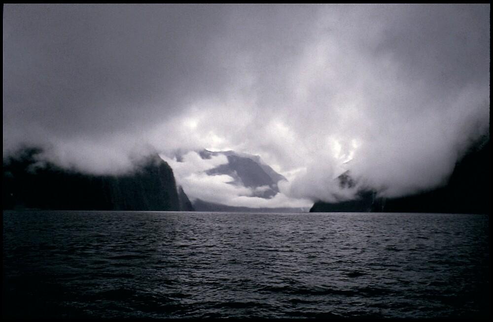 Storm front Resolution Island New Zealand by gldfshbob