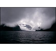 Storm front Resolution Island New Zealand Photographic Print