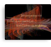 With God We Can Do All Things Canvas Print