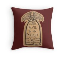 Devil In My Pocket Throw Pillow