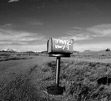 Mailbox City Black & White by sarafureymagee